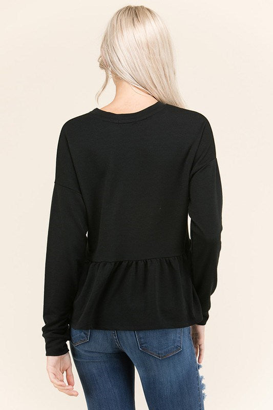 Ruffle French Terry Top