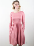 Allison Avery - Long Sleeve Pocket Dress - Free Shipping Over $50