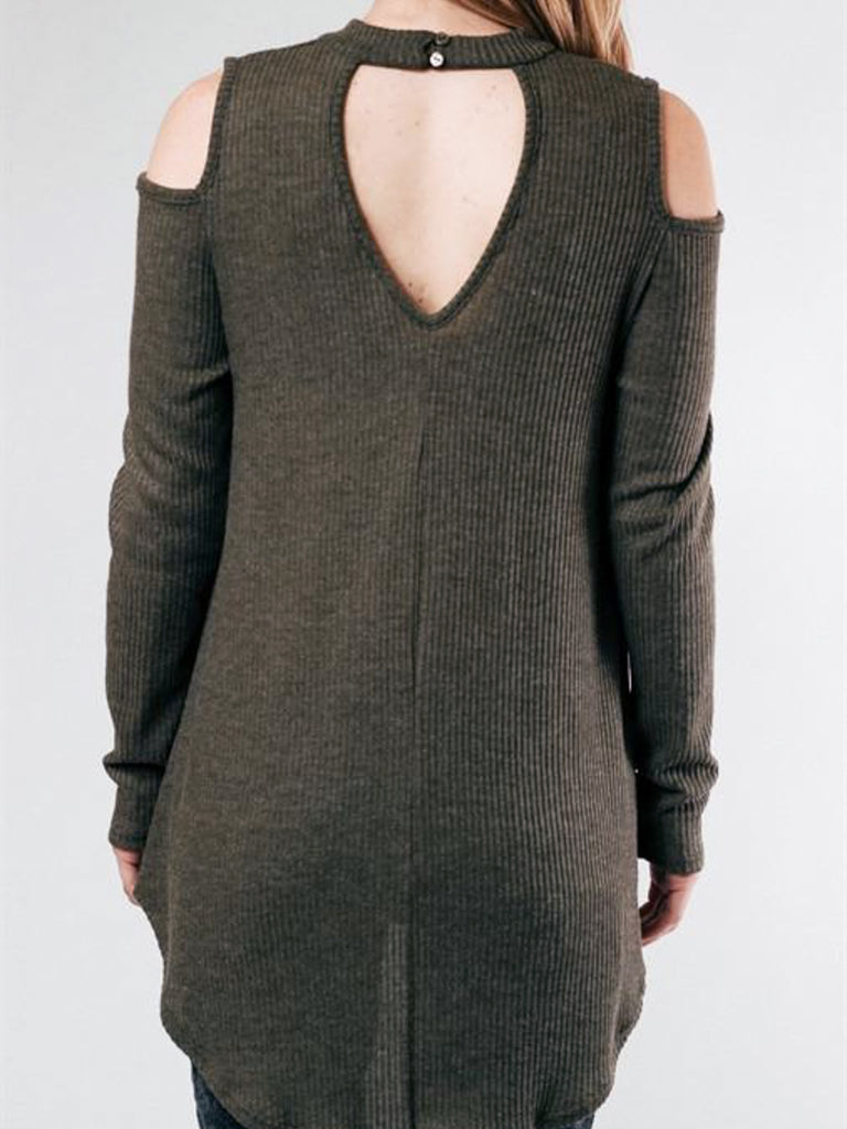 Allison Avery - Open Shoulder Keyhole Top - Free Shipping Over $50