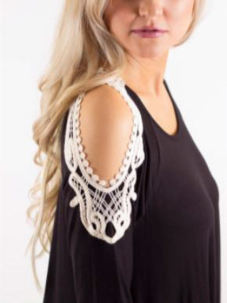 Allison Avery - Crochet Open Shoulder Tunic - Free Shipping Over $50