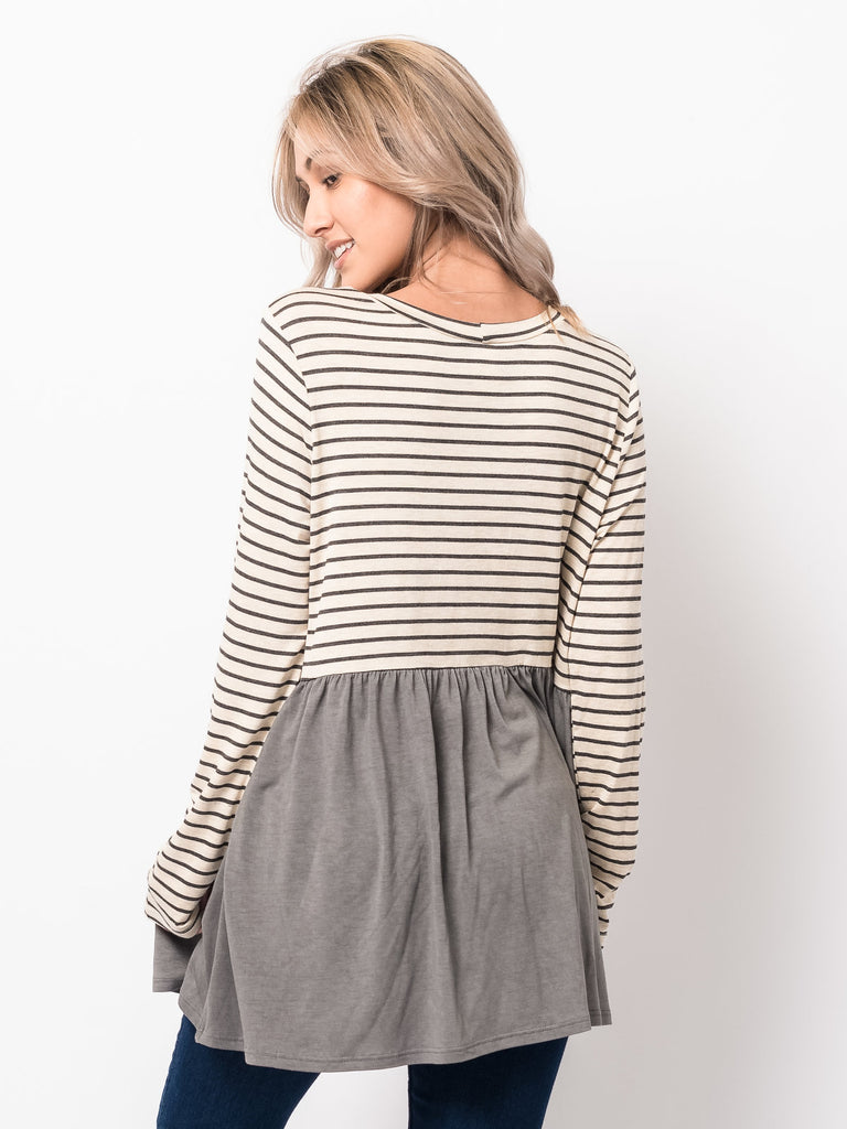 Striped Colorblock Tunic