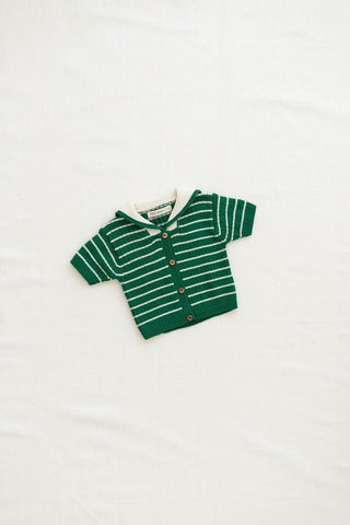 Fin & Vince Emerald Sailor Cardigan