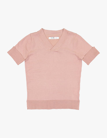Coco Blanc Soft Pink Dressy V-Neck Sweater