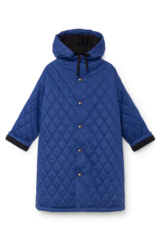 Little Creative Factory Blue Hooded Quilted Coat