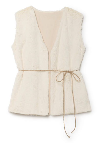Little Creative Factory Cream Snow Sleeveless Vest Jacket