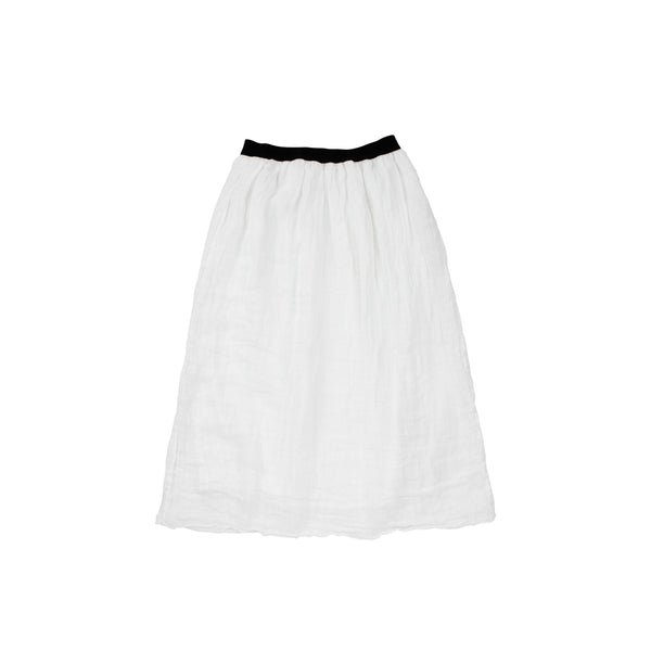 Essence White Midi Skirt