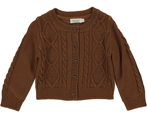 Marmar Copenhagen Knit Deep Brown Cardigan