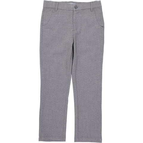 Belati Heather Grey Wool Effect Pants