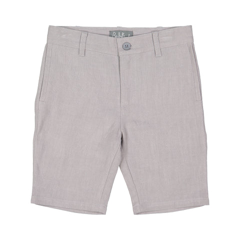 Belati Light Grey Linen Bermuda