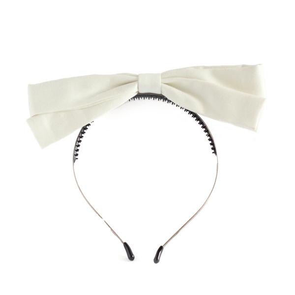 Arbii White Dolly Bow Headband
