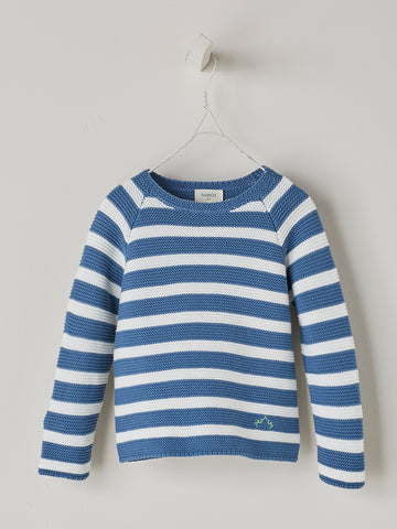 Nanos Blue Stripe Baby Sweater
