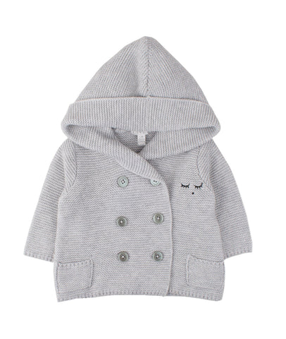 Livly Grey Hooded Cardigan