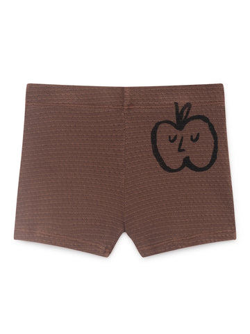 Bobo Choses Brown Apple Shorts