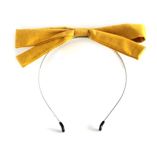 Arbii Mustard Man Dolly Bow Headband