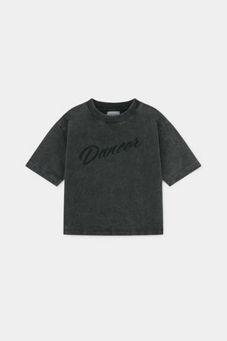 Bobo Choses Washed Black Dancer Short Sleeve Sweatshirt