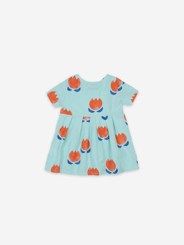 Bobo Choses Chocolate Flowers All Over Button Dress