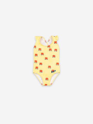 Bobo Choses Baby Chocolate Flowers All Over Swimsuit