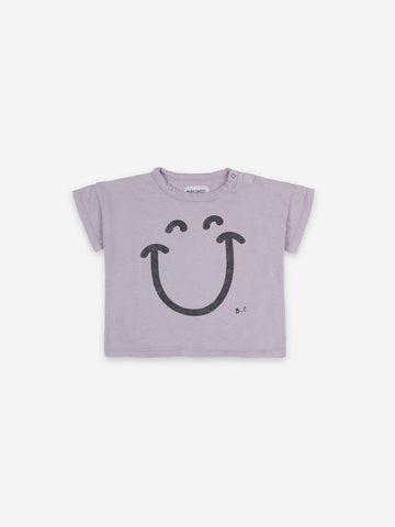 Bobo Choses Baby Big Smile Lila Short Sleeve Tshirt