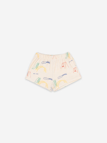 Bobo Choses Playground All Over Terry Fleece Shorts