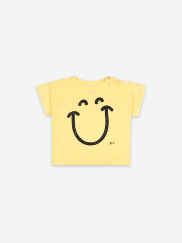 Bobo Choses Yellow Baby Big Smile Lila Short Sleeve Tshirt