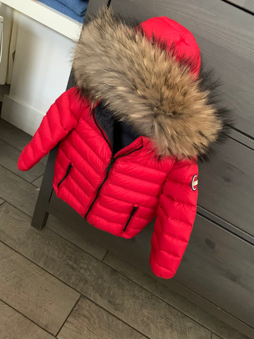 Colmar Red Hooded Baby Winter Jacket