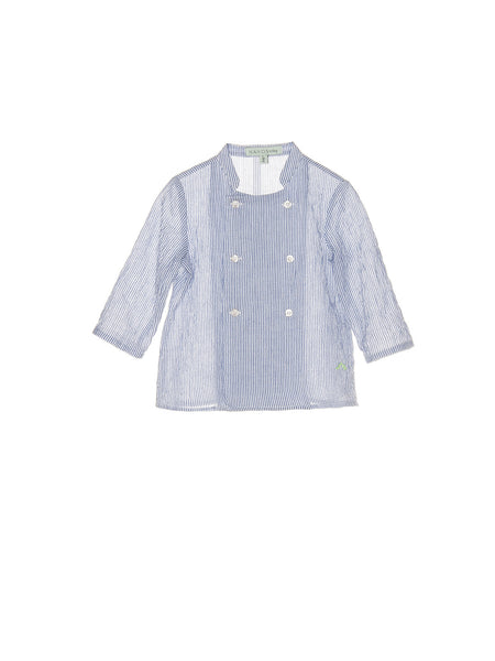 Nanos Blue Striped Buttoned Shirt