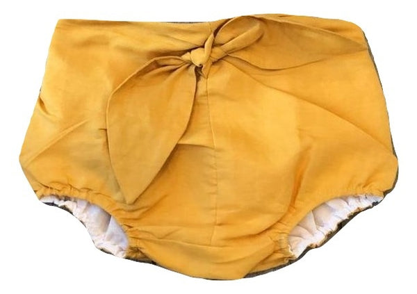 You and Me Yellow Linen Baby Bloomer