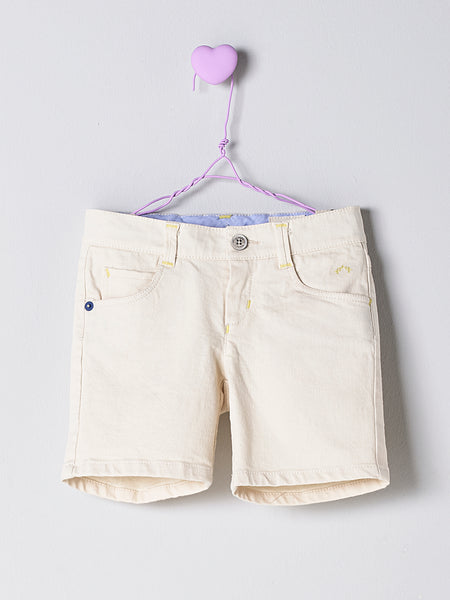 Nanos Off White Cotton Shorts