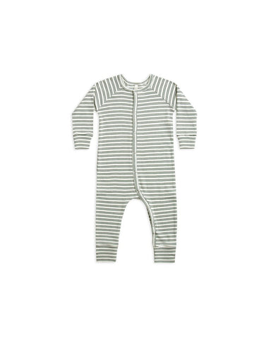 Rylee & Cru Spruce Stripe Ribbed Long John