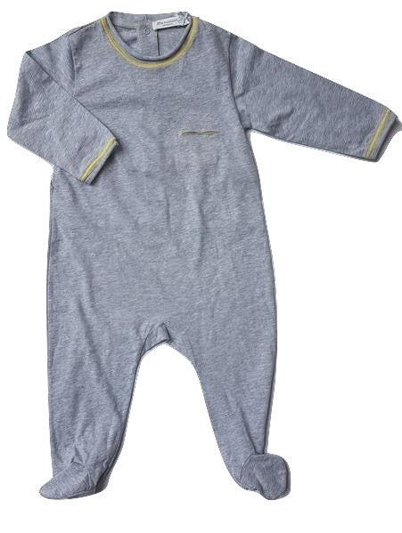 La Mascot Grey Onepiece with Yellow Trimming