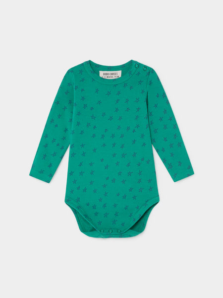 Bobo Choses All Over Stars Long Sleeve Green Body