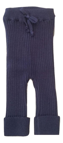 Message in The Bottle Navy Knit Leggings