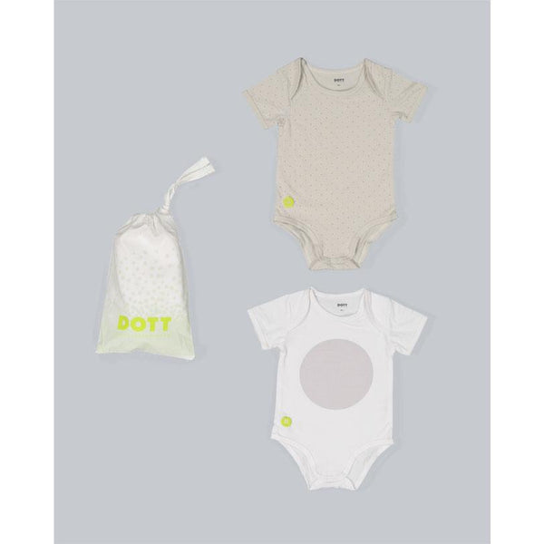 Dott Child Baby Boy Short Sleeve 2pc Onesie Set