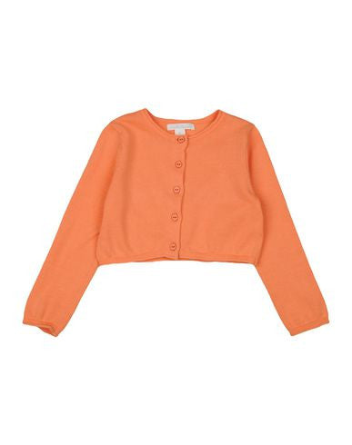 Marie Chantal Peach Crew Neck Cropped Cardigan