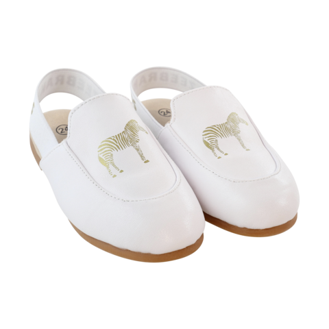 Zeebra White Logo Slippers