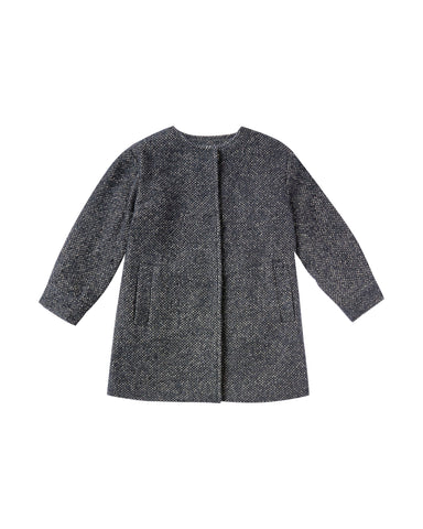 Rylee & Cru Washed Indigo No-Collar Coat