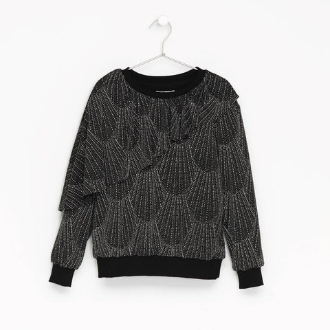 Andorine Black Glittered Sweater