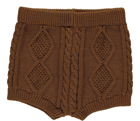 Marmar Copenhagen Knit Deep Brown Peppa Bloomer Short