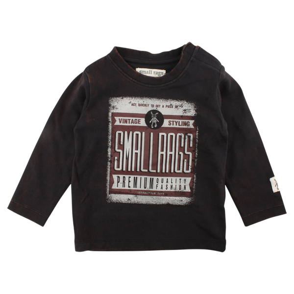Small Rags Danny Long Sleeve Sweatshirt Jet Washed Black