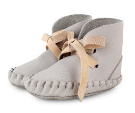 Donsje Amsterdam Pina Booties Leather Light Grey Nubuck Creme
