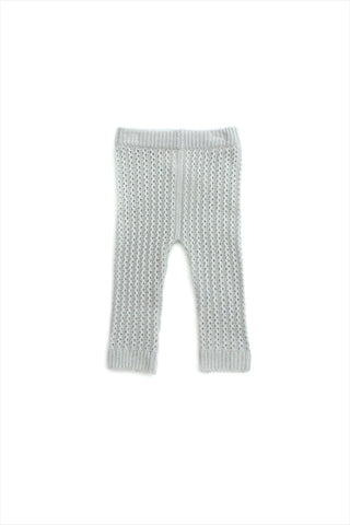 Flora and Henri Dove Grey Cashmere Knitted Pant