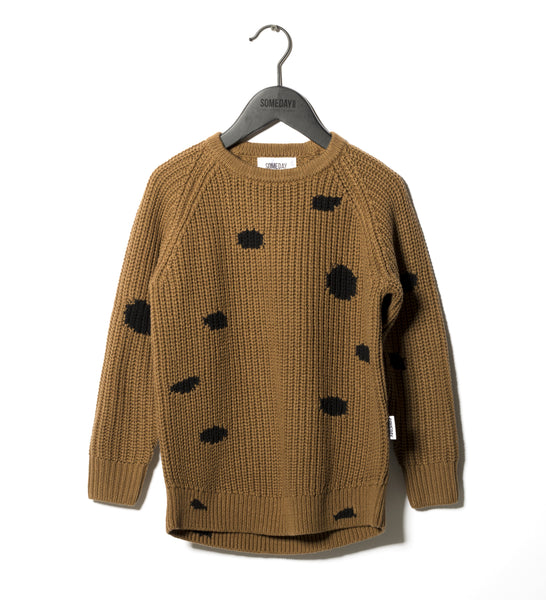 Someday Soon Khaki Peters Knit Sweater