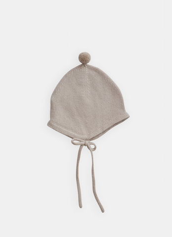 Belle Enfant Cloud Grey Bonnet with Pom Pom