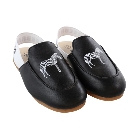 Zeebra Black Logo Slippers