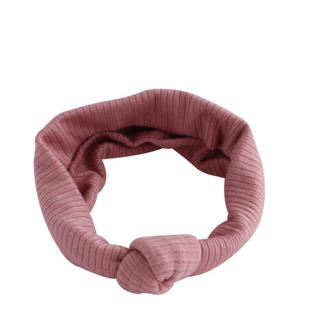 Arbii Dusty Peach Ribbed Turban Band