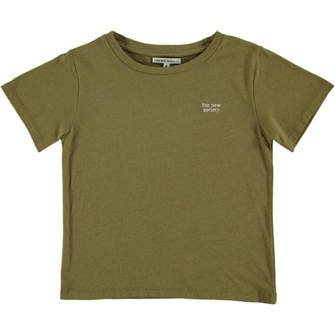 The New Society Khaki Logo T-Shirt