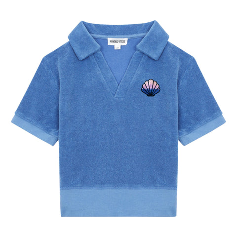 Hundred Pieces Blue Terry Polo