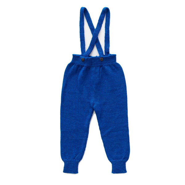 Oeuf Electric Blue Suspender Pants