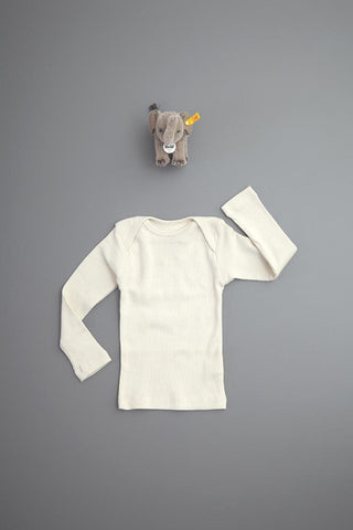 Flora and Henri Rib Lap Shoulder L/S Tee Sand