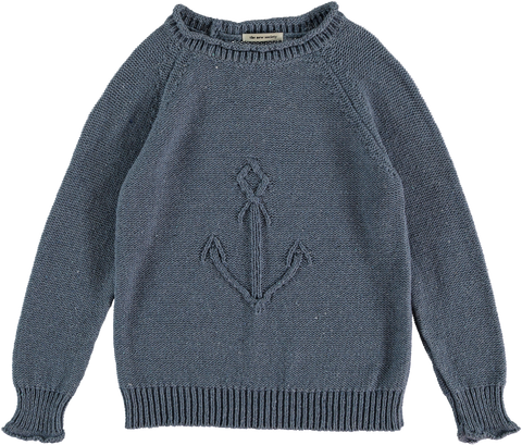The New Society Soft Blue Pierre Sweater